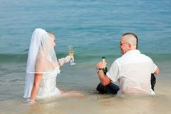 Tropical wedding Stock Image
