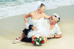 Tropical wedding. Wedding on the tropical beach Stock Photography