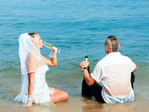 Tropical wedding. Wedding on the tropical beach Royalty Free Stock Images