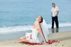 Tropical wedding. Wedding on the tropical beach Stock Image