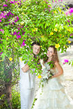 Tropical wedding Stock Images