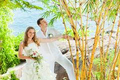 Tropical wedding Stock Photo
