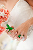 Tropical Wedding Bouquet Royalty Free Stock Photography