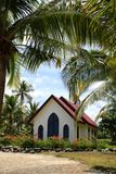 Tropical wedding chapel. Little chapel in tranquil tropical setting by the beach Royalty Free Stock Images