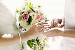 Tropical wedding. Sand ceremony. Wedding in a nautical style stock photos