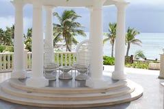 Tropical Wedding Setting Stock Photos