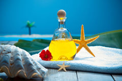 Tropical wellness spa treatment Stock Photos