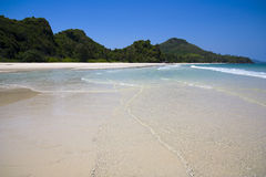 Tropical White Beach & Crystal Clear Water Royalty Free Stock Photo