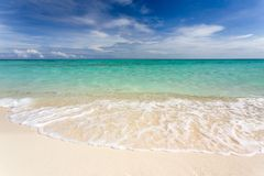 Tropical white beach Royalty Free Stock Images