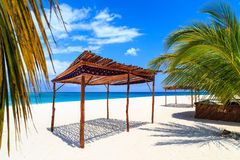 Tropical white beach on a sunny day Stock Images