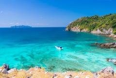 Tropical white sand beach Aerial royalty free stock photos