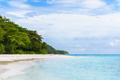 Tropical white sand beach and blue sky. Similan islands Stock Photo