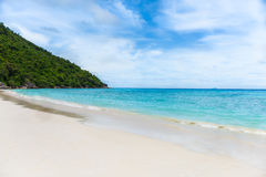 Tropical white sand beach and blue sky. Similan islands Royalty Free Stock Image