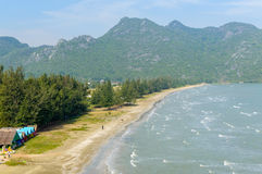 Tropical white sand beach in Khao Sam Roi Yot National Park, Tha. Iland Stock Photos