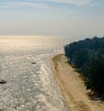 Tropical white sand beach in Khao Sam Roi Yot National Park, Tha. Iland Stock Images