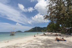 Tropical White Sand Beach Koh Tao island, Chumphon, Thailand Stock Photo
