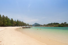 Tropical white sand beach Stock Photos