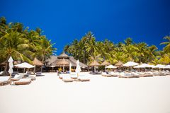 Tropical white sunny beach in beautiful exotic Stock Image