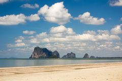 Tropical wild beach Stock Photos