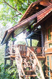 Tropical wooden tree house in resort Royalty Free Stock Photography