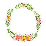 Tropical wreath Stock Photo