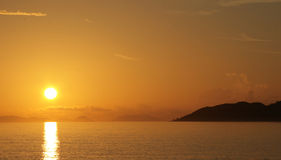 Tropicals dawn. South Chinese sea Royalty Free Stock Photos