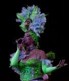 Tropicana余兴节目的古巴艺术家 库存图片