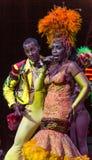 Tropicana的古巴歌手和舞蹈家 免版税库存照片