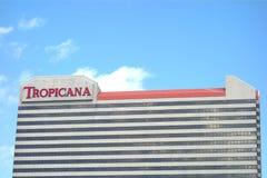 Tropicana赌博娱乐场&手段 免版税库存图片