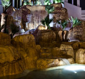Tropicana Las Vegas. Waterfalls at the Tropicana on the Las Vegas Strip Stock Photos