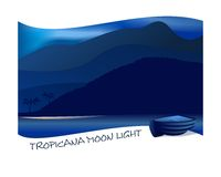Tropicana moon light, cdr vector Stock Photography