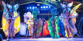 Tropicana musical cabaret dancers Stock Photography