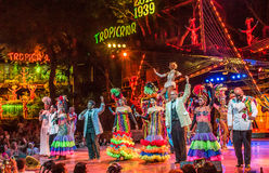 Tropicana musical cabaret show Royalty Free Stock Images