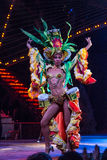 Tropicana showgirl. Dancer of the tropicana ensemble wearing colorful carnival like costume Stock Image
