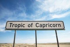 Tropico del capricorn Fotografie Stock