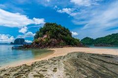 Tropics. Asia, beach on an island in Thailand. Krabi province stock photography