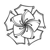 Tropikalna kwiat ikona, prosty styl royalty ilustracja
