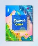 Tropikalna lato dzieciaków obozu przyjęcia tapeta Zdjęcie Royalty Free