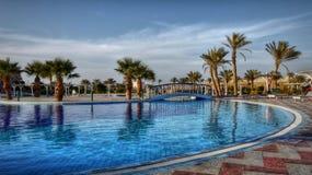 Tropikalna oaza Egipt - luksusowego hotelu kurort - Zdjęcia Royalty Free
