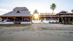 Tropikalna ocean plaży wody zatoka San Juan Del Sura Nikaragua Obrazy Royalty Free