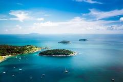 Tropikalna oceanu krajobrazu panorama Tajlandia obrazy royalty free