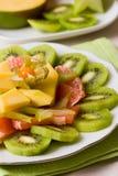 tropikalna owocowa sałatka Zdjęcia Royalty Free