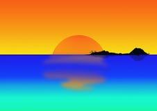 tropikalna półmrok wyspa royalty ilustracja