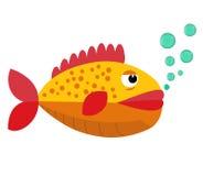 Tropikalna płaska ryba wektor Fotografia Royalty Free
