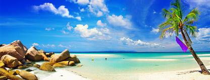 Tropikalna panorama Obrazy Royalty Free