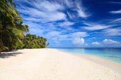 Tropikalna piasek plaża, urlopowy pojęcie Zdjęcie Stock