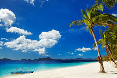 Tropikalna plaża, Filipiny Zdjęcia Royalty Free
