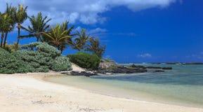 Błękitna laguna w Mauritius wyspie Zdjęcie Stock