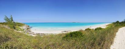 tropikalna plażowa panorama zdjęcia stock