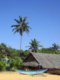 tropikalna plażowa scena Obraz Royalty Free